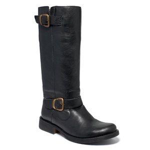 STEVE MADDEN Black Leather FRENCCHH Boot 6.5